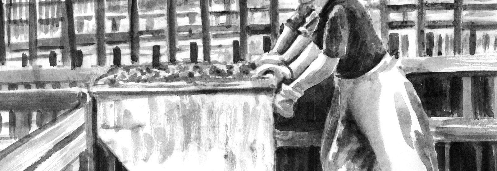 """Выставка """"Война в Басманном"""" в школе им. Карбышева"""