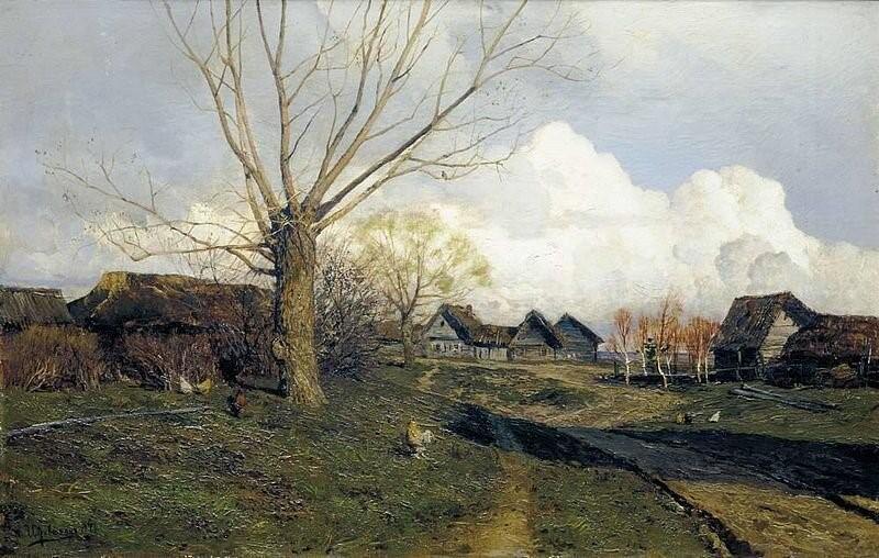 Саввинская слобода под Звенигородом. И.И. Левитан. 1884 г.